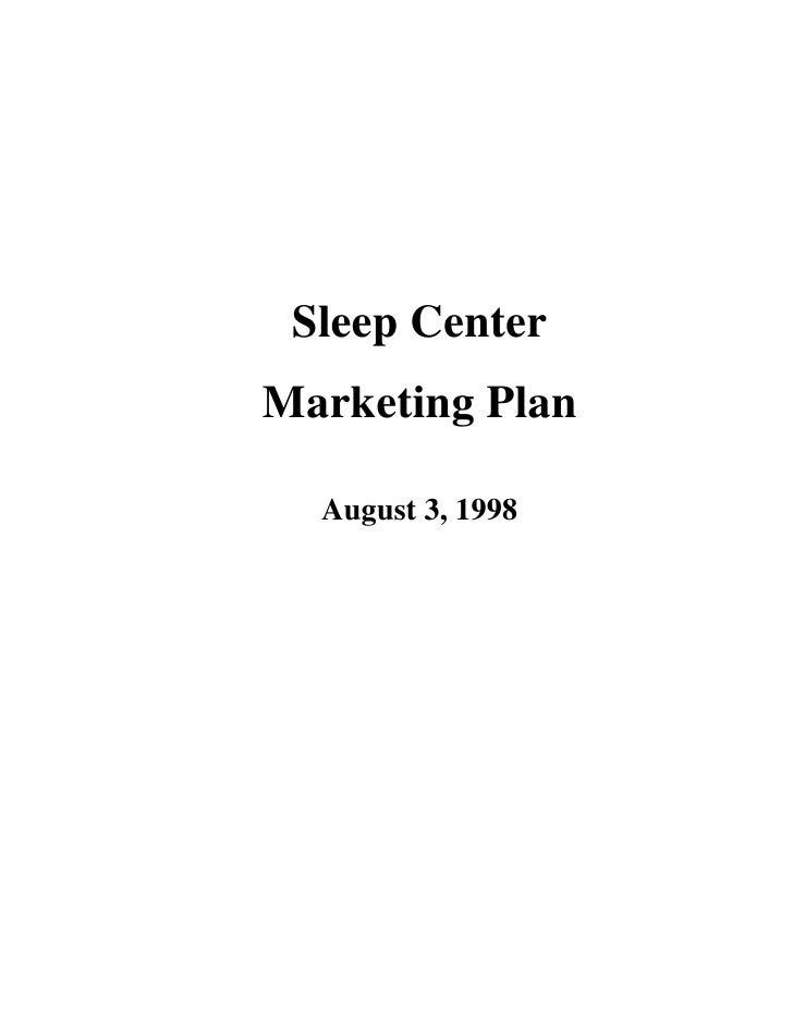 Sample Marketing Plan