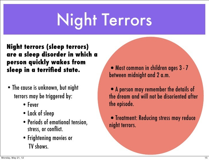 the facts about night terrors