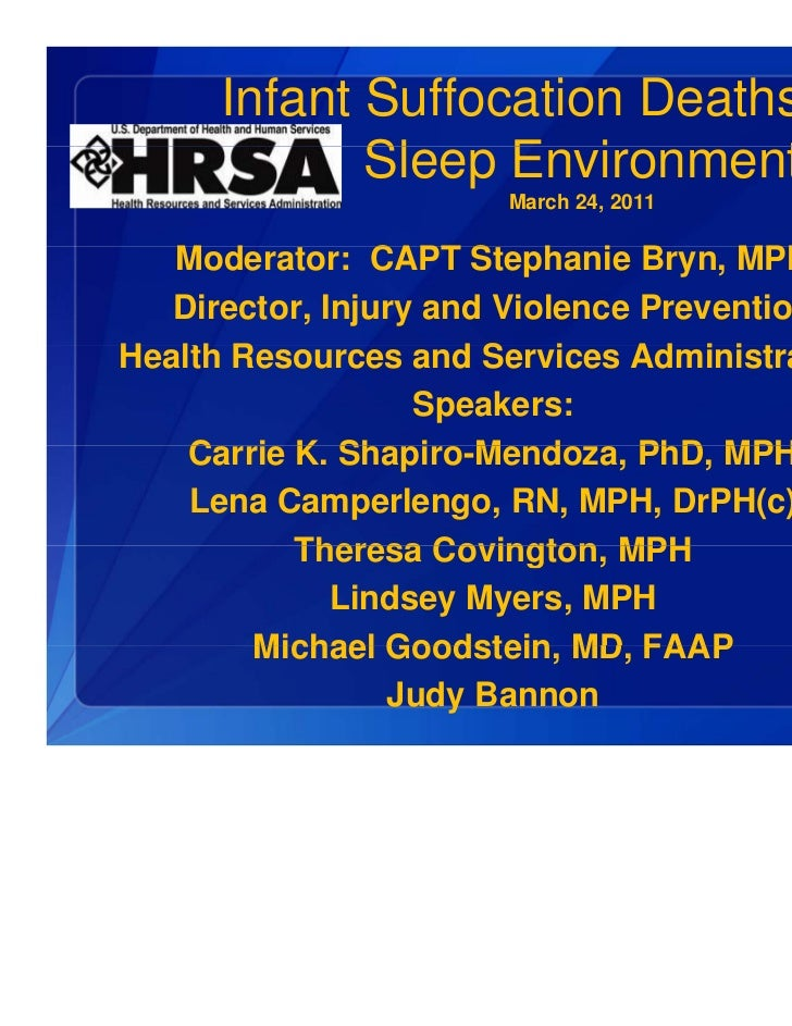 Infant Suffocation Deaths in the Sleep Environment