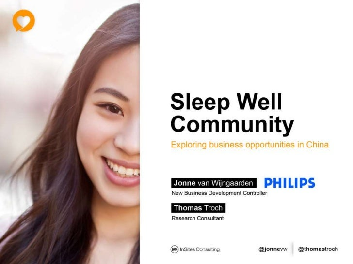 Philips Sleep Well community - Exploring business opportunities in China