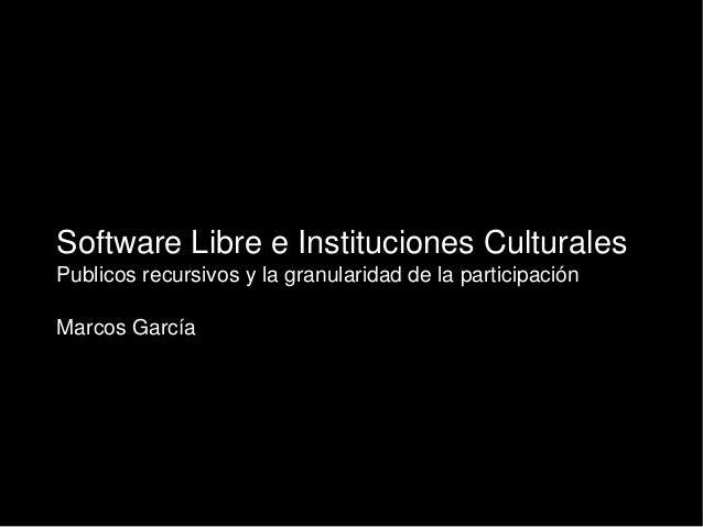 V Encuentros de Centros de Documentación de Arte Contemporáneo ARTIUM - Marcos García