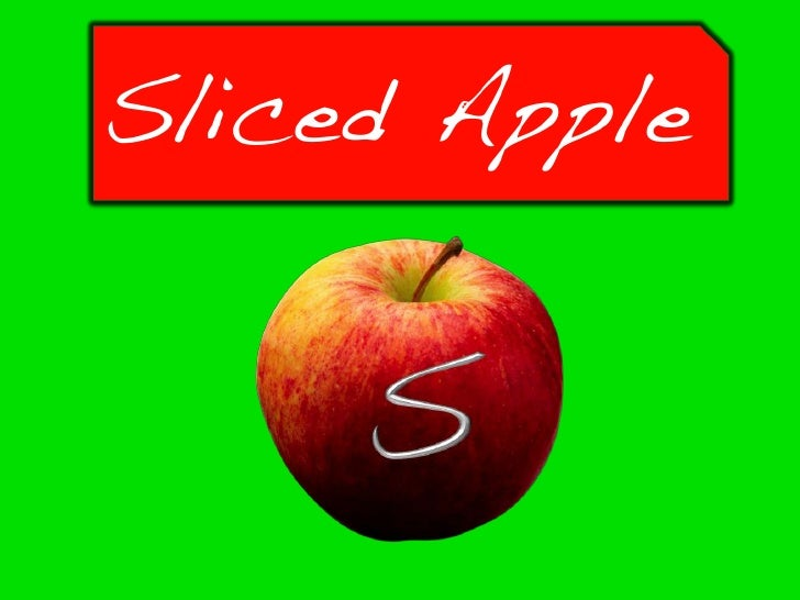 Sliced Apple Presentation