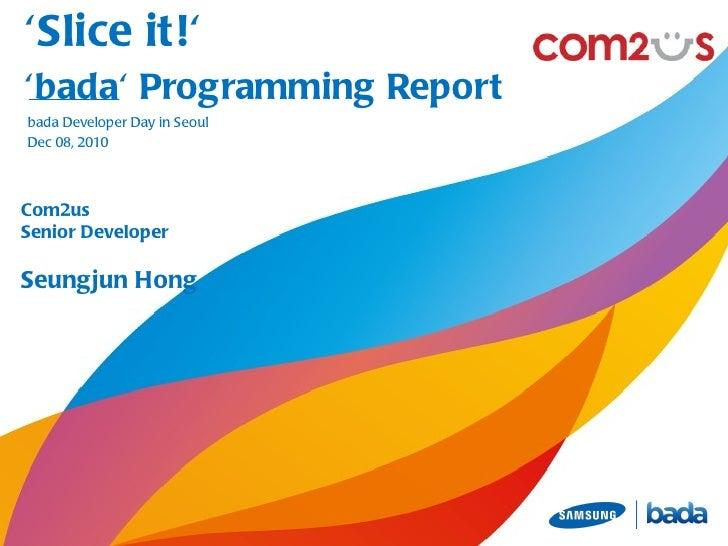 Slice it! bada programming report(kor)
