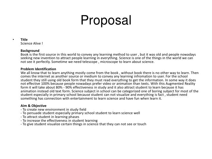 animation research proposal