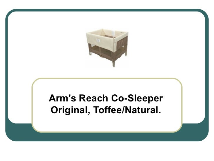 Arm's Reach Co-Sleeper Original, Toffee/Natural