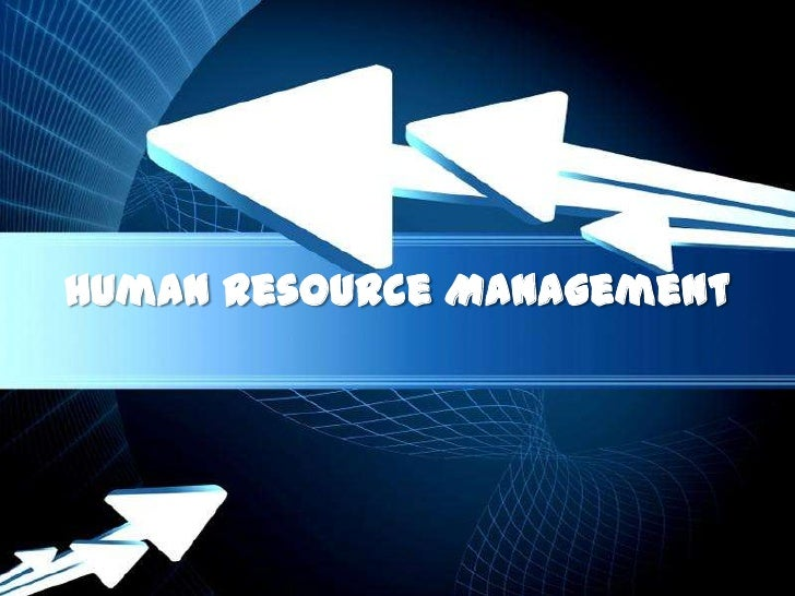 Human Resource Management        Powerpoint Templates                               Page 1