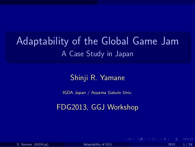 Adaptability of the Global Game Jam: A Case Study in Japan