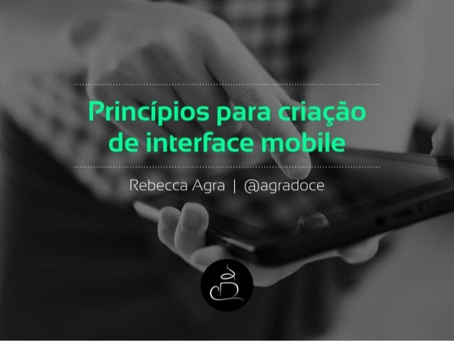 Princípios para criação de interface mobile