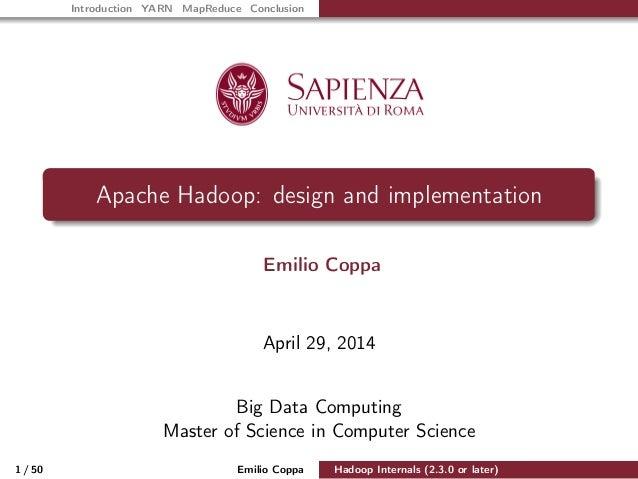 Hadoop Internals (2.3.0 or later)