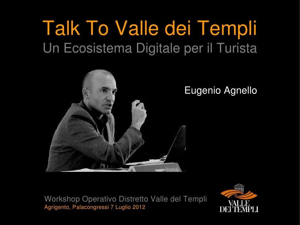 Presentazione al Bando d'Idee per il Distretto Turistico Valle dei Templi