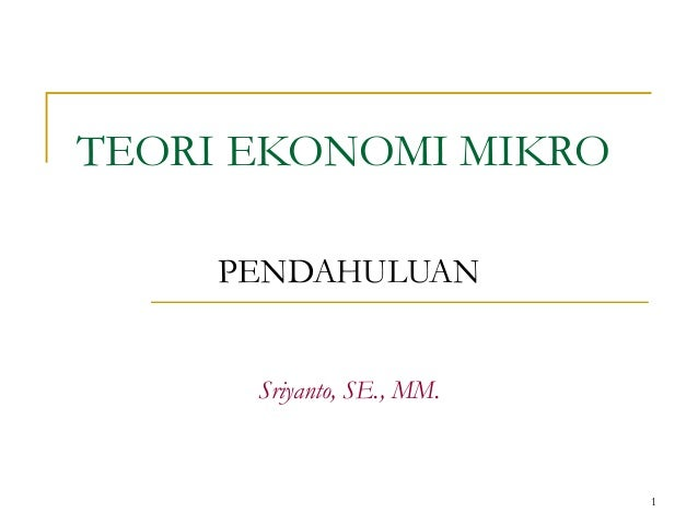 teori ekonomi makro