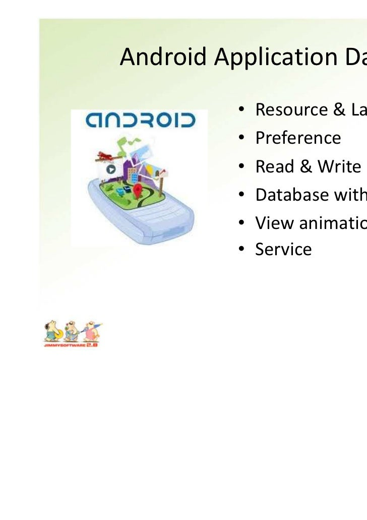 Android Application Day3          •   Resource & Language          •   Preference          •   Read & Write File Context  ...