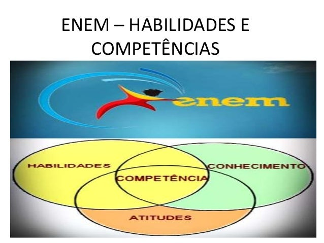 Slide   enem – habilidades e competências
