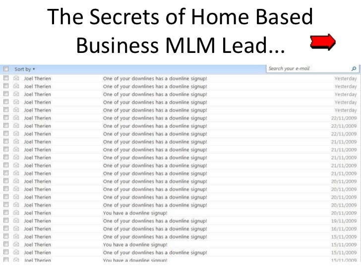 Home based business mlm lead made easy...