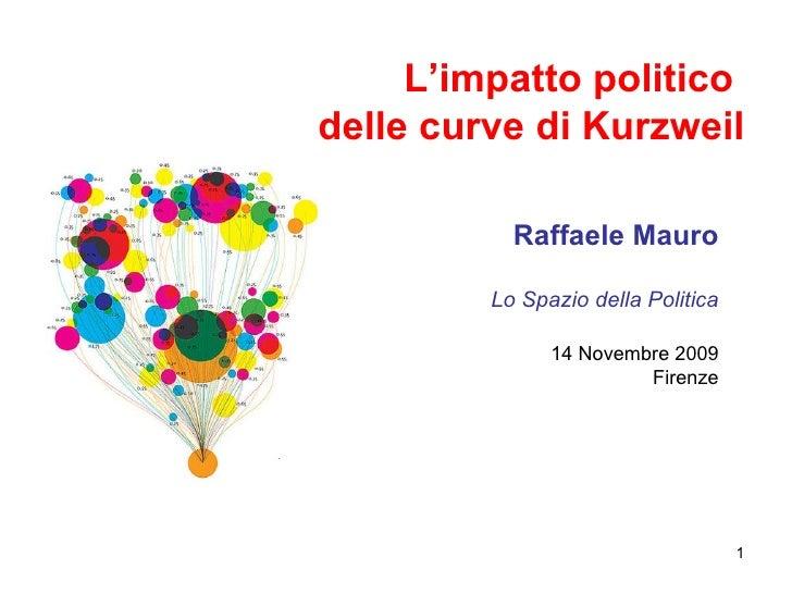 L'impatto politico  delle curve di Kurzweil Raffaele Mauro Lo Spazio della Politica 14 Novembre 2009 Firenze