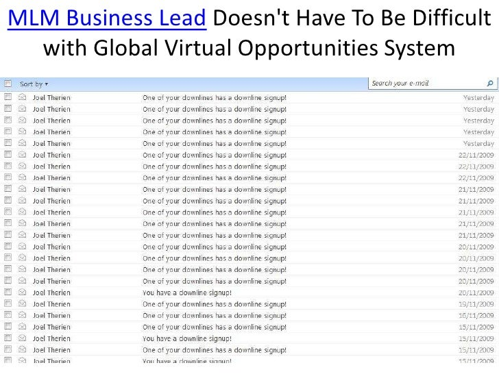 MLM Business Lead Doesn't Have To Be Difficult...