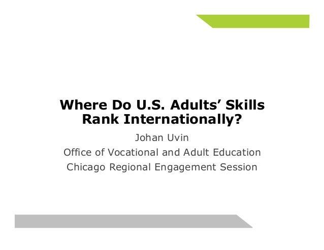 Where Do U.S. Adults' Skills  Rank Internationally?  Johan Uvin   Office of Vocational and Adult Education  Chicago Region...