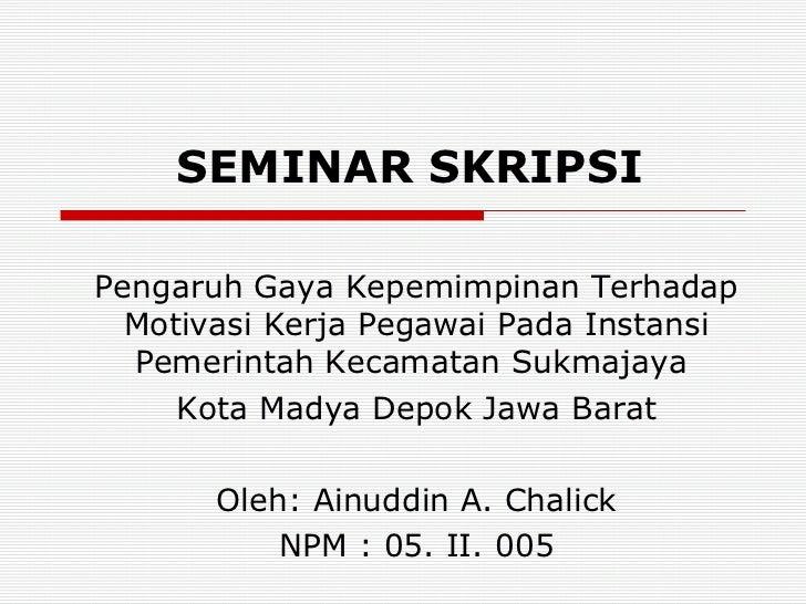 Bahan Seminar Perbaikan Skripsi