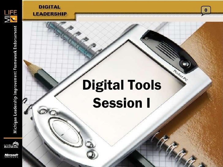 Digital Tools Session I 0