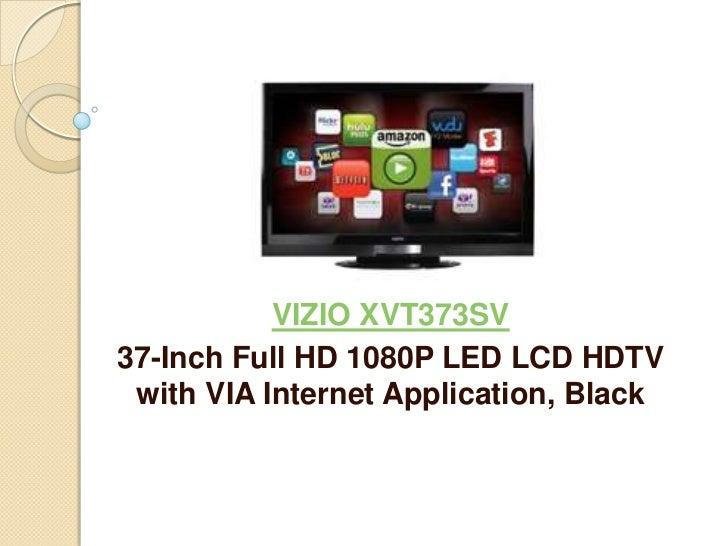 VIZIO XVT373SV37-Inch Full HD 1080P LED LCD HDTV with VIA Internet Application, Black