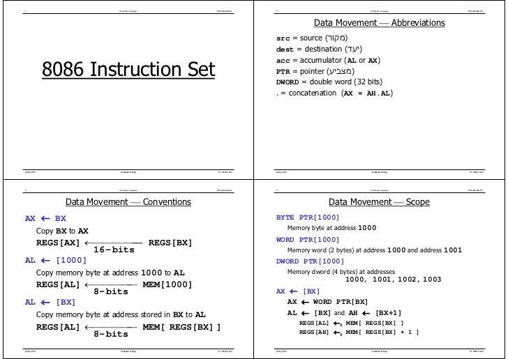 1                          Assembly Language   Microprocessors I   2                                        Assembly Langu...