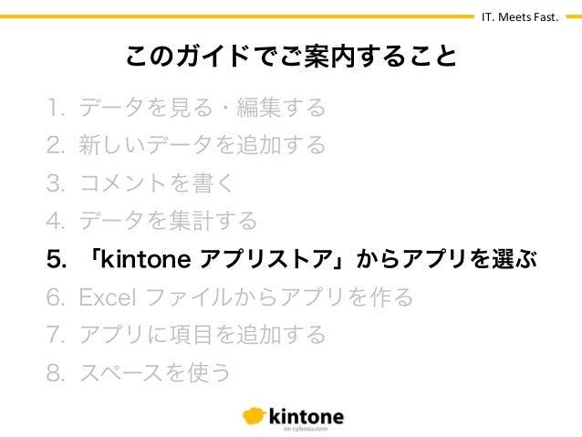 【kintone 基本操作ガイド】5.「kintone アプリストア」からアプリを選ぶ