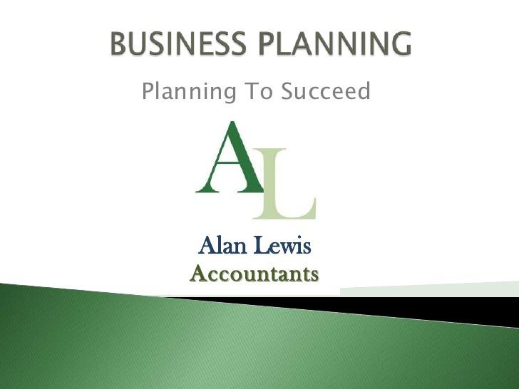 Planning to Succeed