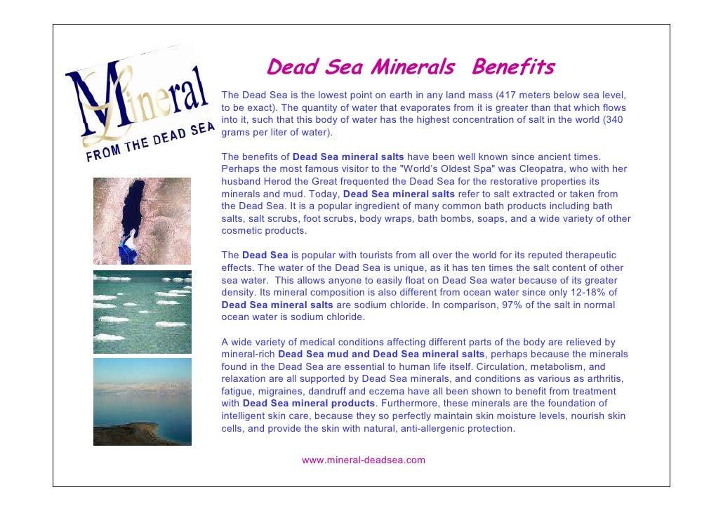 Dead Sea Minerals  Benefits