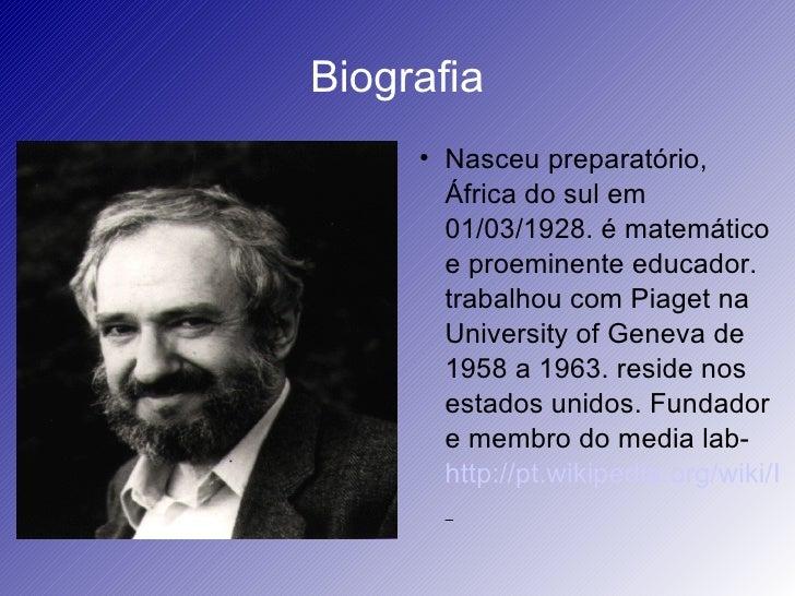 Biografia              Nasceu preparatório,         África do sul em         01/03/1928. é matemático         e proeminen...
