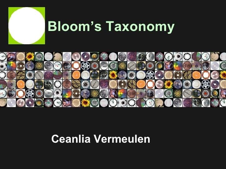 Bloom's Taxonomy Ceanlia Vermeulen