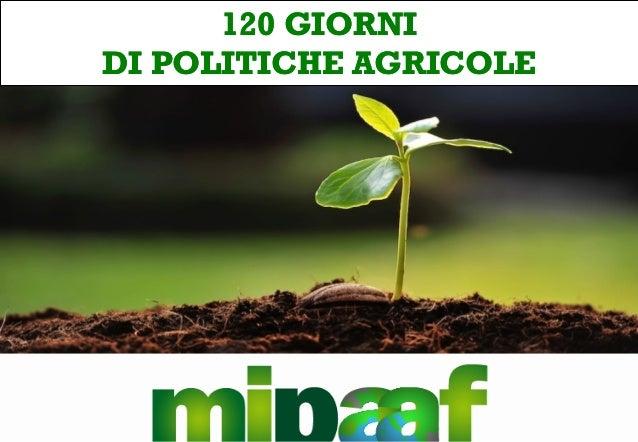 120 GIORNI120 GIORNI DIDI POLITICHE AGRICOLEPOLITICHE AGRICOLE