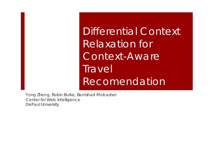 Differential Context                         Relaxation for                         Context-Aware                         ...