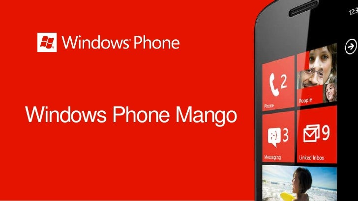 Windows Phone Mango - 28/10/2011