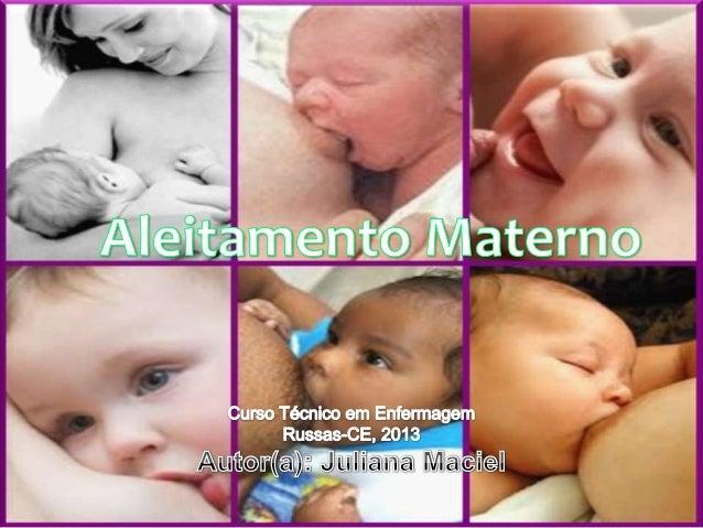 Slide Aleitamento materno