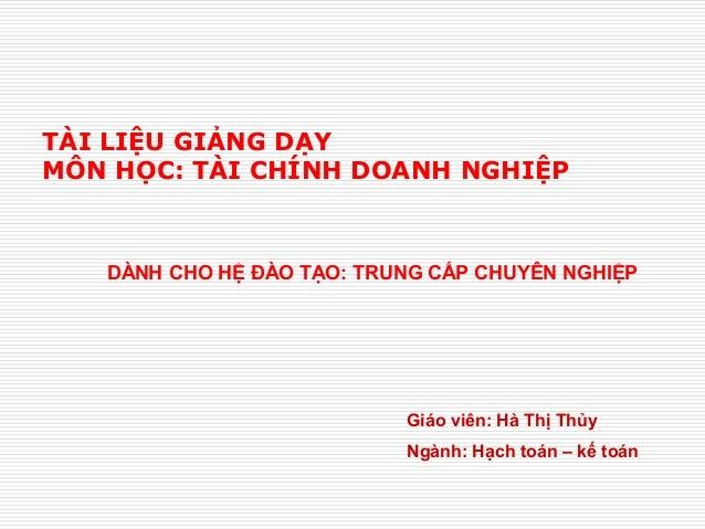 Slide bai giang_tcdn-ha thi thuy