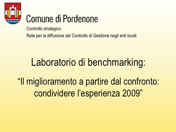 Laboratorio di benchmarking