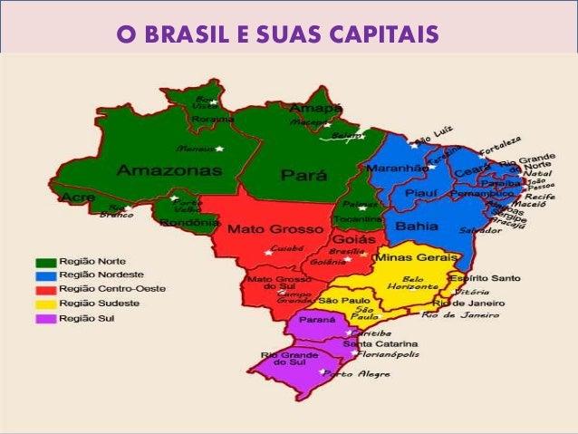 O BRASIL E SUAS CAPITAIS