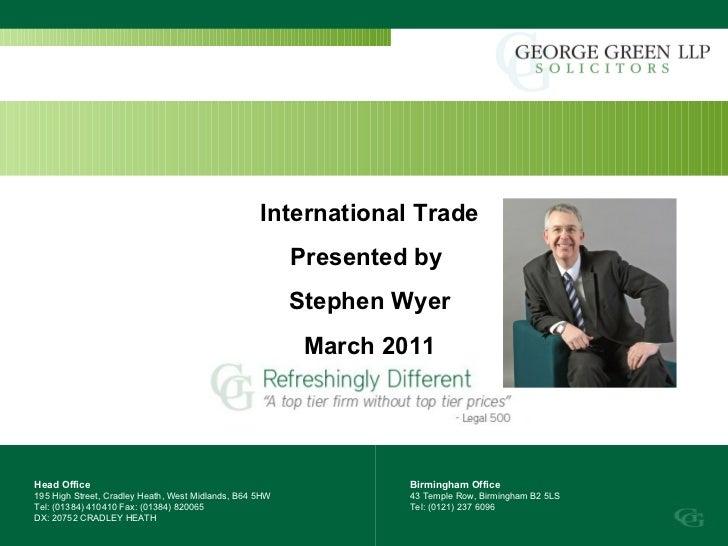 Head Office 195 High Street, Cradley Heath, West Midlands, B64 5HW Tel: (01384) 410410 Fax: (01384) 820065  DX: 20752 CRAD...