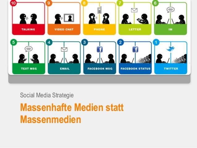 Massenhafte Medien statt Massenmedien Social Media Strategie