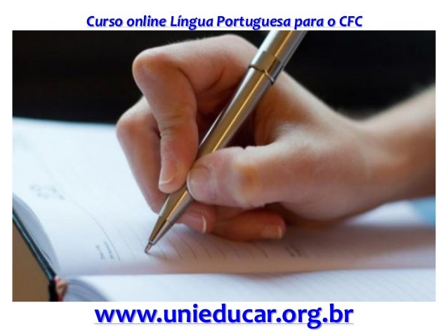 Slide curso lingua portuguesa para o cfc