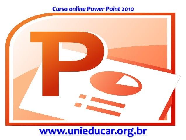 Curso online Power Point 2010 www.unieducar.org.br