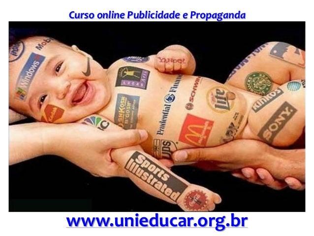 Slide curso publicidade e propaganda