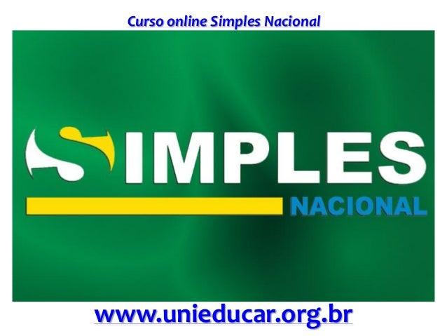 Curso online Simples Nacional www.unieducar.org.br