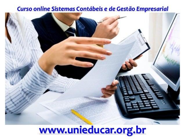 Slide curso sistemas contabeis e de gestao empresarial