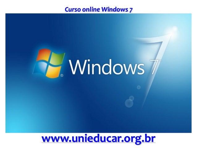 Curso online Windows 7 www.unieducar.org.br