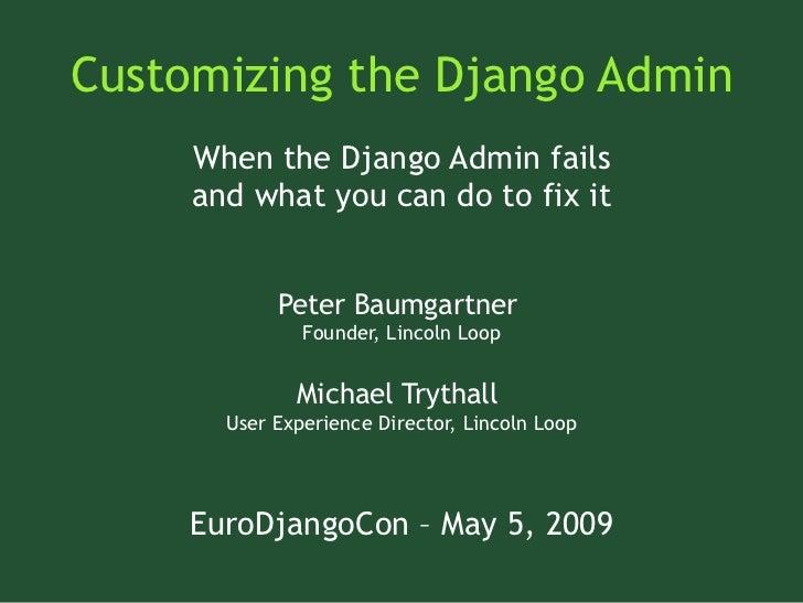 Customizing the Django Admin