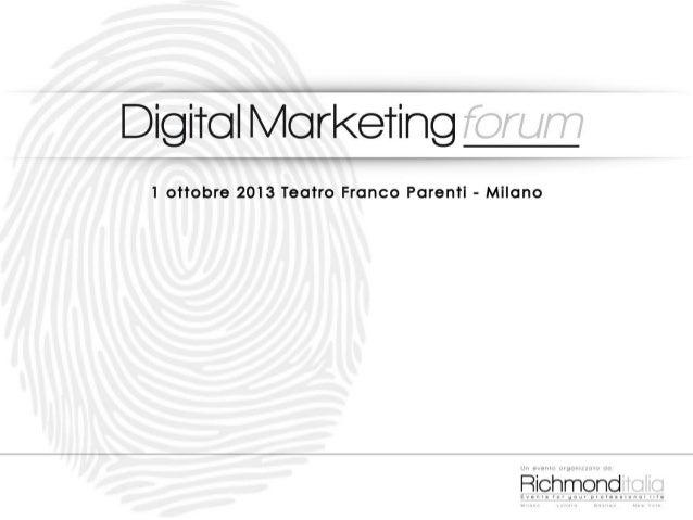 Numeri e trend digitali in Italia: quali opportunità? Federico Capeci, Founder e AD Duepuntozero DOXA