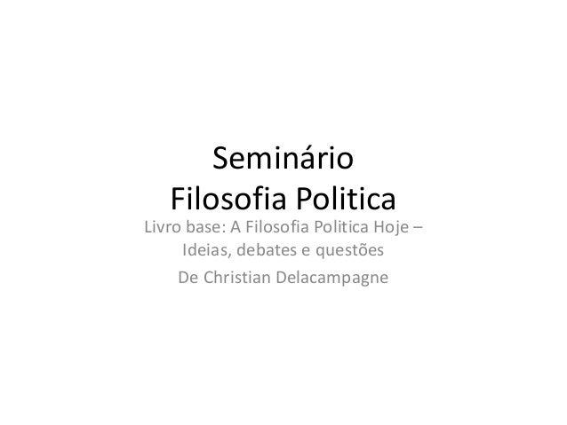 Slide do seminário de filosofia