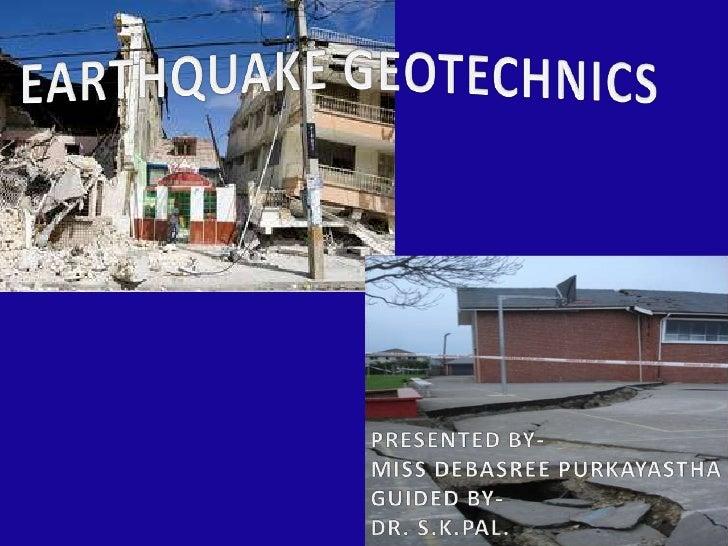 Slide earthquake.
