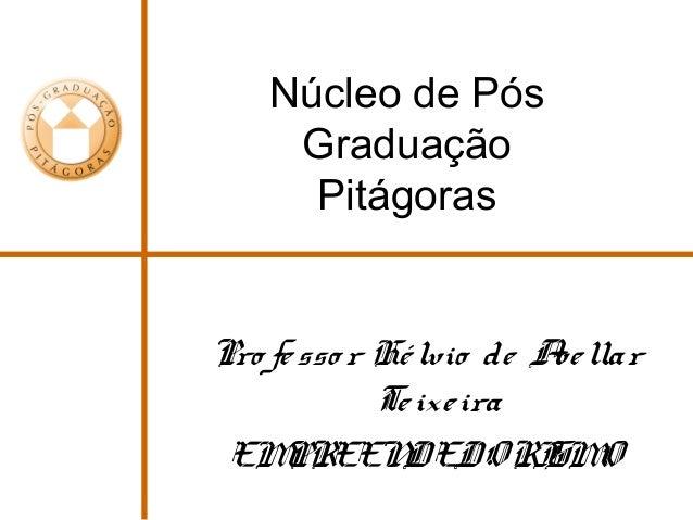 Núcleo de Pós Graduação Pitágoras Pro fesso r Hélvio de Avellar Teixeira EMPREENDEDORISMO